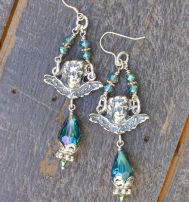 Aqua Exotic Asian Crystal Earrings