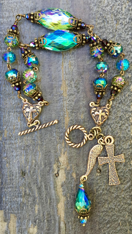 Aqua Exotic Asian Crystal Bracelet – 8mm