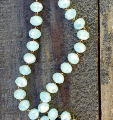 Baby Blue and Blue Crystal Necklace – 8x10mm
