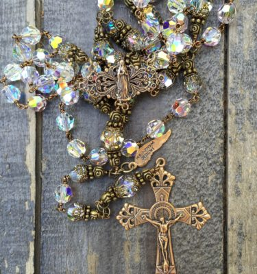 Clear Crystal Rosary – 8mm